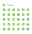 Round Fitness Icons vector image vector image