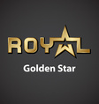 royal golden star inscription icon vector image vector image