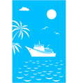 sea voyage vacation travel card banner vector image