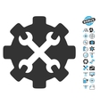 Service Tools Icon With Air Drone Tools Bonus vector image vector image