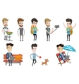 set of traveling people and businessmen vector image vector image