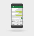 smartphone social network concept messenger vector image vector image