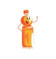soft soda drink bottle cartoon character element vector image vector image