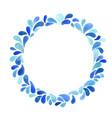 splash water drop wreath watercolor for summer vector image vector image