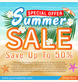 summer sale special offer deal promotion poster vector image vector image