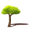 tree low poly style geometric poligonal vector image vector image