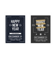 two new year invitations to a club party vector image vector image