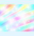 unicorn rainbow background holographic sky in vector image