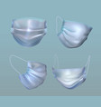 variety medical face mask vector image vector image