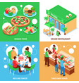 vegetarian 2x2 design concept vector image vector image