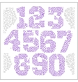 Vintage numbers set in grunge style vector image