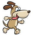 Walking dog clipart vector image vector image