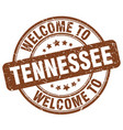 welcome to tennessee brown round vintage stamp vector image vector image