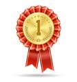 winner gold medal badge vector image