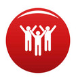 winning teamwork icon red vector image vector image