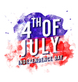 4th of July on abstract brush strokes decorated vector image