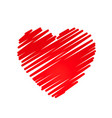 hand drawn heart design element vector image