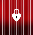 Unlock your heart this Valentines Day vector image