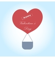 Greeting Card Valentine s Day with a hot air vector image