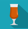 alcohol icon flat style vector image vector image
