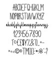 alphabet in style technical drawing vector image vector image
