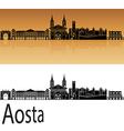 Aosta skyline in orange vector image vector image