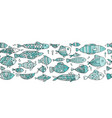 art fish collection sketch for your design vector image vector image