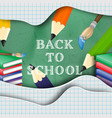 back to school creative background vector image
