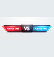 battle scoreboard fight game interface for player vector image vector image