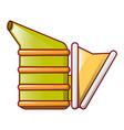bee smoker icon cartoon style vector image
