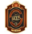Beer premium class vector image