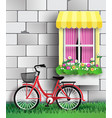 bicycle in the garden vector image