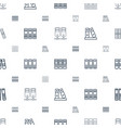 binders icons pattern seamless white background vector image vector image