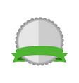 blank silver circular premium vintage badge vector image vector image