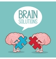 Brain design organ icon Flat vector image vector image