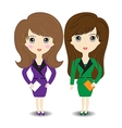 Business woman on white background vector image