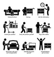 buy furniture from self service store step by vector image vector image