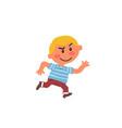 cartoon character boy running vector image