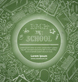 Chalk Back to School Card vector image