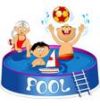 children swimming pool vector image vector image