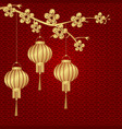 chinese new year stylized under bronze of chinese vector image vector image