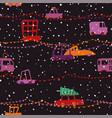 christmas seanless pattern city holiday traffic vector image