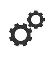 cogwheels black icon vector image