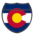colorado flag in an interstate sign vector image vector image