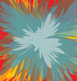 colorful supernova blast background vector image