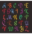 Colorful Watercolor Alphabet vector image vector image