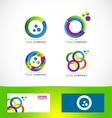 Colors circle logo icon set vector image vector image