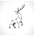 deer silhouette isolated on white background vector image vector image