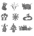 doodles simple christmas elements for new year vector image