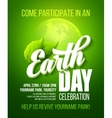 Earth Day poster with the vector image vector image